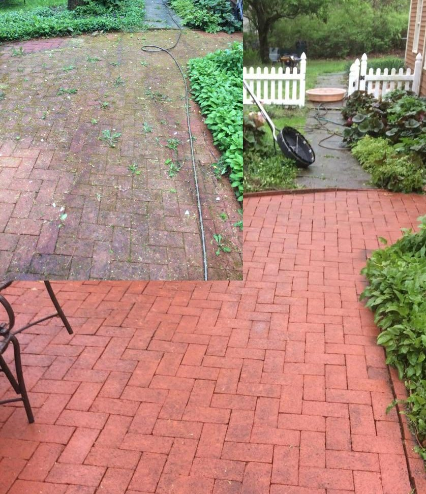 patio after power washing